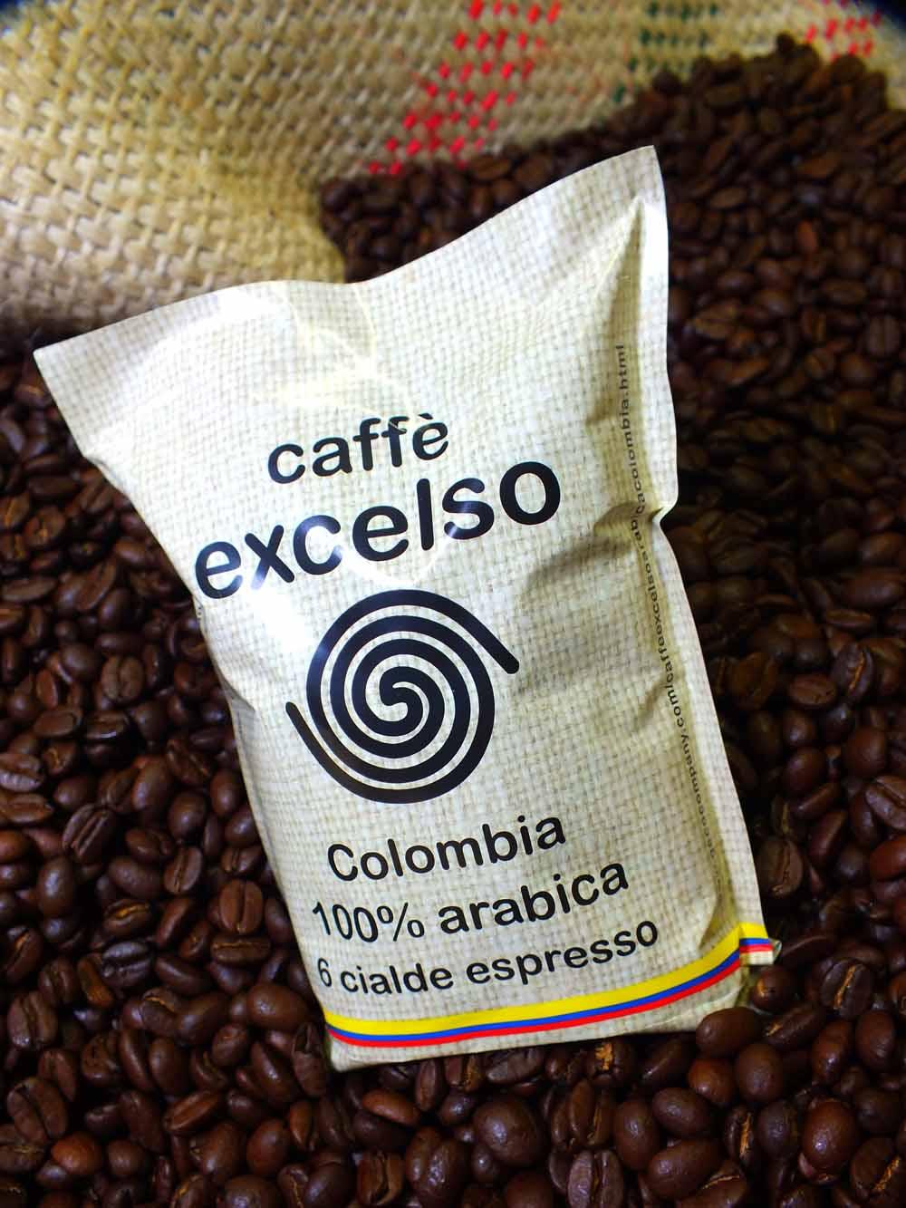 Caffe excelso arabica colombia 6 cialde geco company store - Diversi tipi di caffe ...